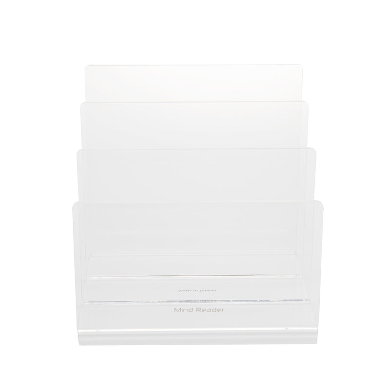 Three Section Acrylic File Folder Organize, Clear