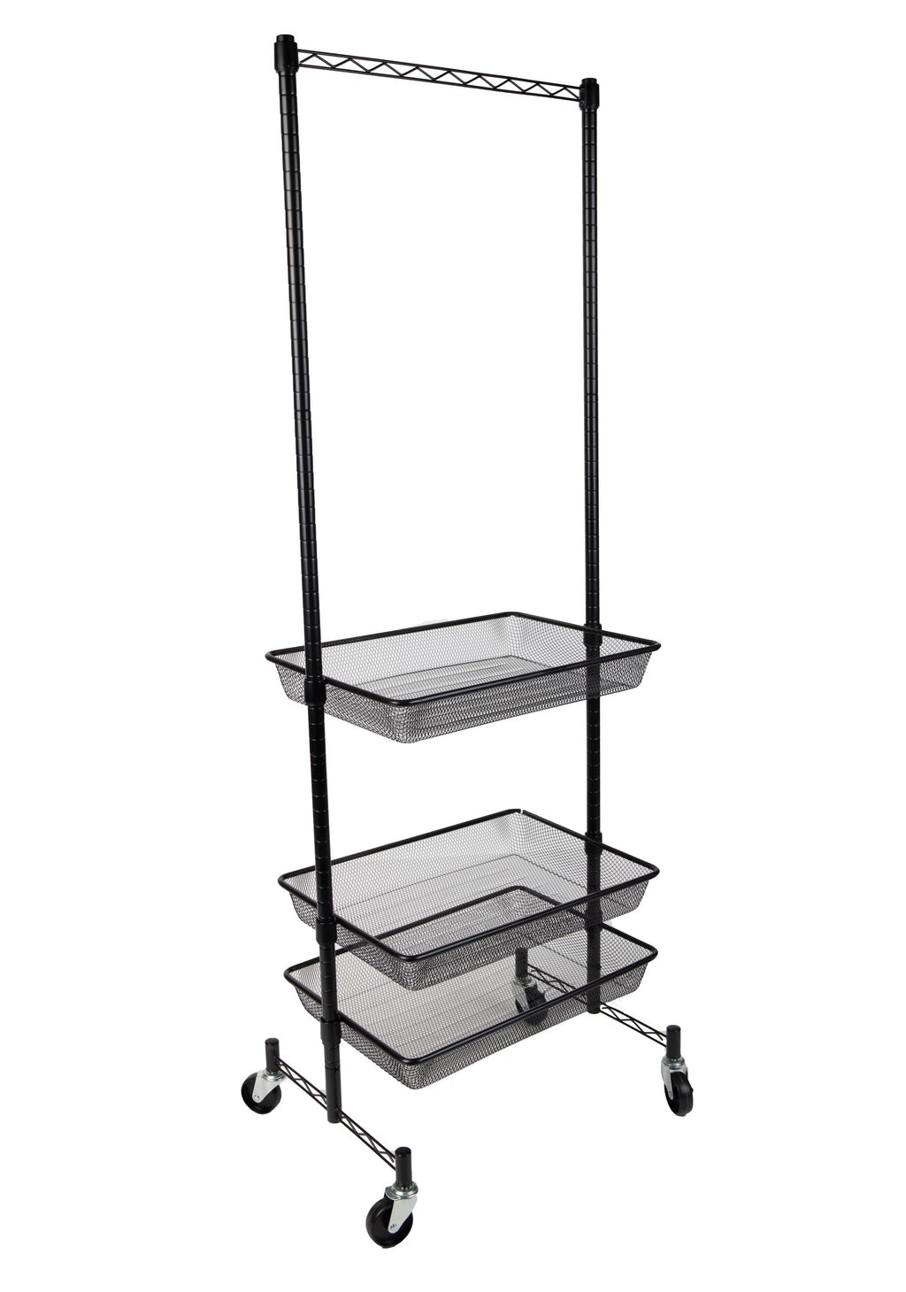 3 Basket Storage Rack