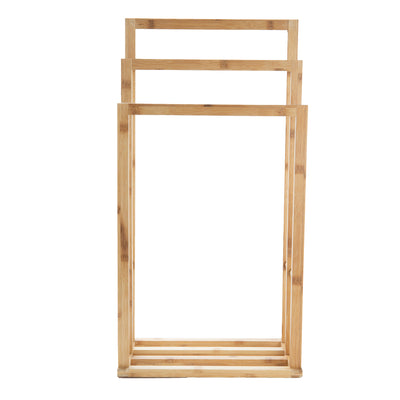 3 Tier Freestanding Bamboo Drying Rack, Brown