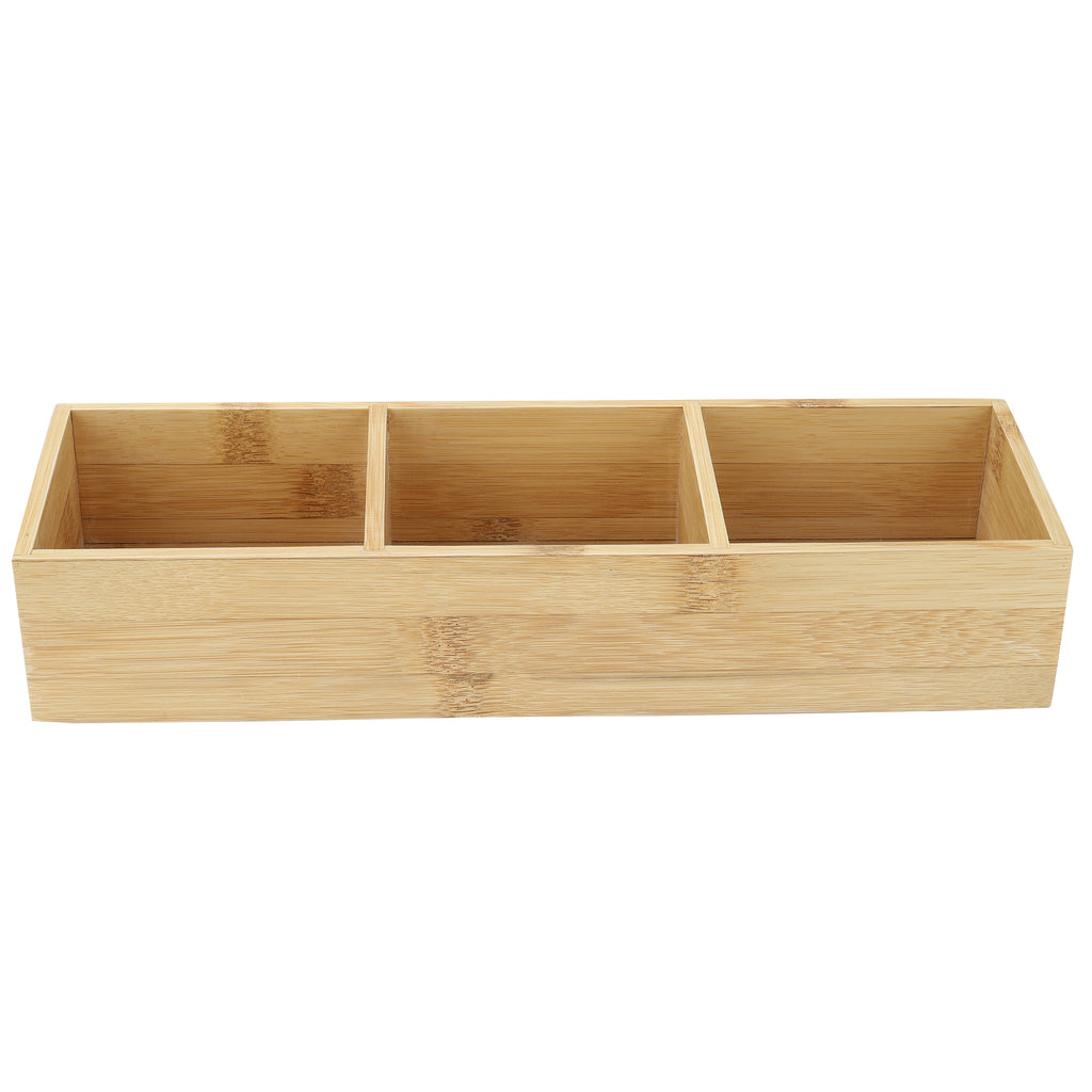 Multi-Compartment Bamboo Condiment Holder
