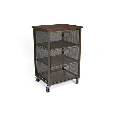 Rolling Storage Cart with 3 Drawers