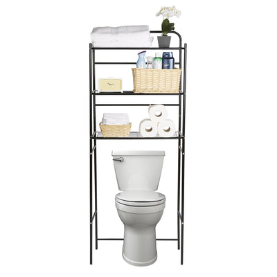 Mind Reader 3-Tier Toilet Rack, Bathroom Organizer, Over the Toilet Unit, Bathroom Space Saver, Accessories Stand Storage Organizer