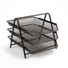 3 Tier Mesh Paper File Tray, Desk Organizer with 3 Sliding Trays for Letters, Documents, Mail, Paper
