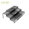 3 Tier Metal Mesh Multi Purpose Kitchen Storage Organizer