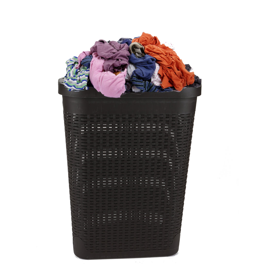 Mind Reader Laundry Basket with Cutout Handles, Washing Bin, Hamper, Dirty Clothes Storage, Bathroom, Bedroom, Closet