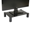 Glass Monitor Stand Riser, Black
