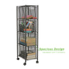 4 Drawer Cart, Rolling Mesh Office Cart, Metal Storage, Drawers, File Storage Cart, Utility Cart, Office Storage, Heavy Duty Multi-Purpose Cart, Black