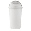 Mind Reader Mind Reader Rattan Trash Can 55 Liter/14.5 Gallon, Trash Bin, Garbage Bin, Trash Can with Lid, Ivory Waste Bin