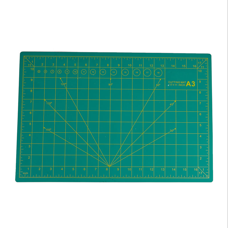 "Mind Reader Self Healing Cutting Mat, 12"" x 18"", 5 layers, Long Lasting, Non-Slip Mat, Crafty, Green"