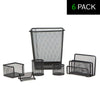 6 Piece Desk Organizer Set - 6 Pack