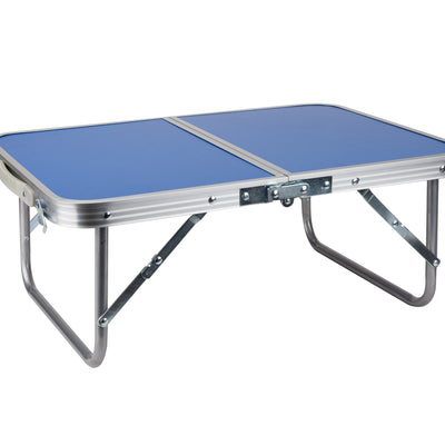 Folding Lap Tray, Bed Breakfast Desk with Collapsible Legs, Blue