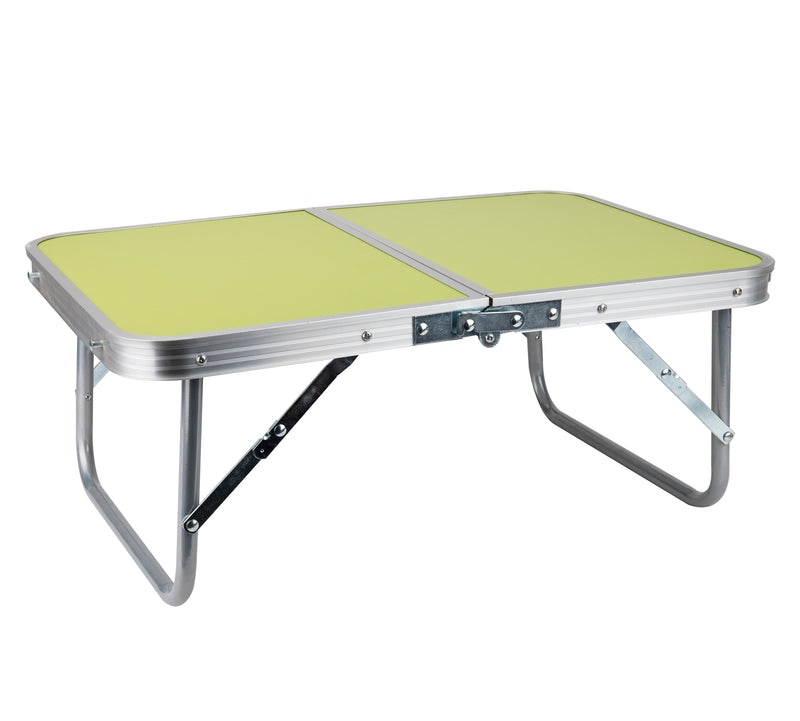 Folding Lap Tray, Bed Breakfast Desk with Collapsible Legs, Green