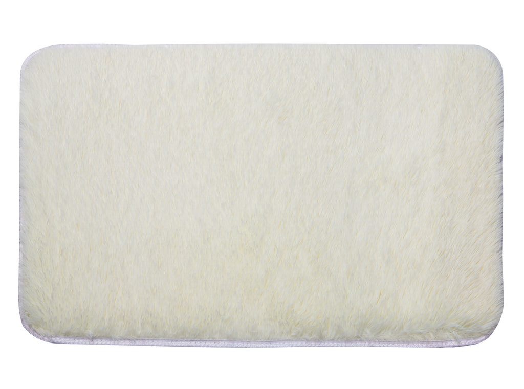 Plush PV Fur Rug, Cozy High Pile Non-Slip, Soft Shag, 2′ x 3', Cream