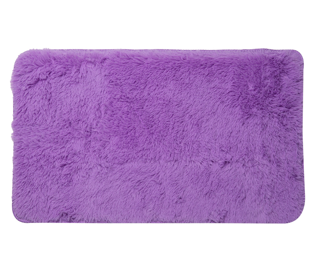 Plush PV Fur Rug, Cozy High Pile Non-Slip Area Carpet, Soft Shag, 2′ x 3′, Purple