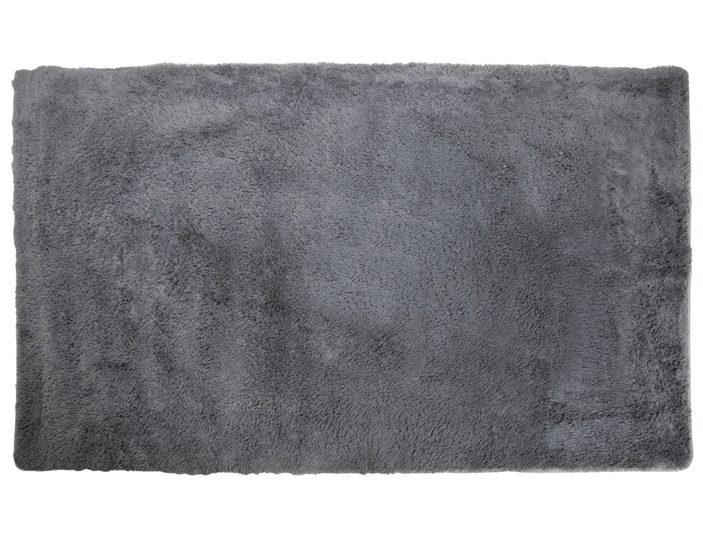 Lush PV Fur Rug, Cozy High Pile Non-Slip Area Soft Shag, 6′ x 9′, Grey