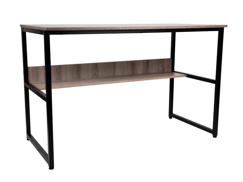 47 Inch Computer Table with Shelf, Desk for Home or Office, Brown