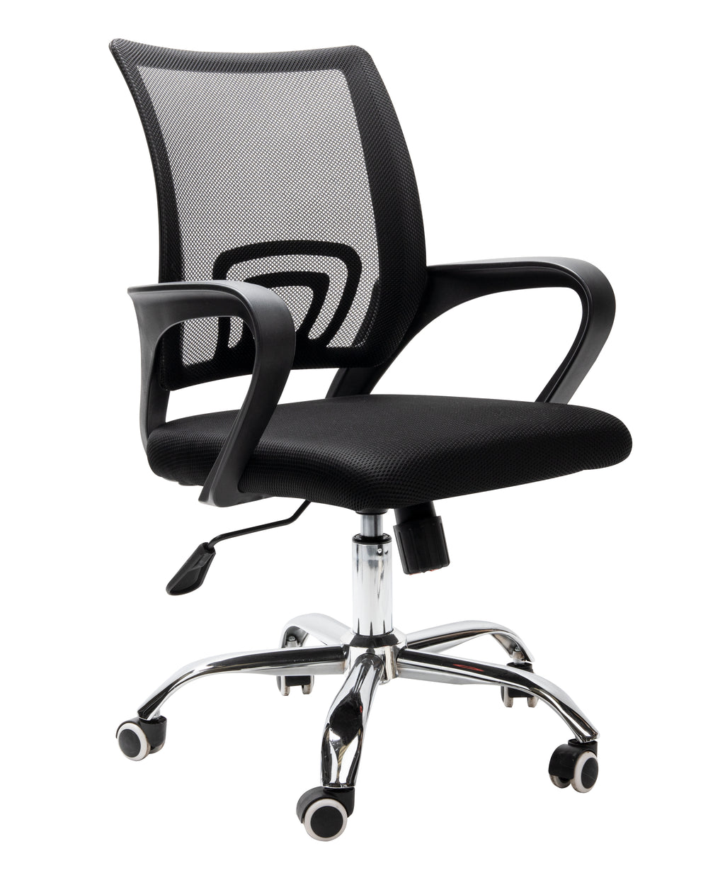 Mind Reader Ergonomic Adjustable Rolling Office Chair, Black