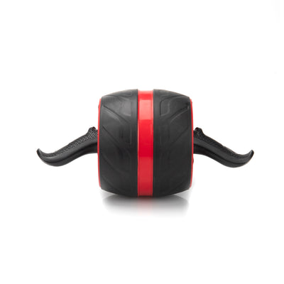 Ab Roller with Ergonomic Handles, Ultra-Wide, Home Fitness Wheel, Red and Black