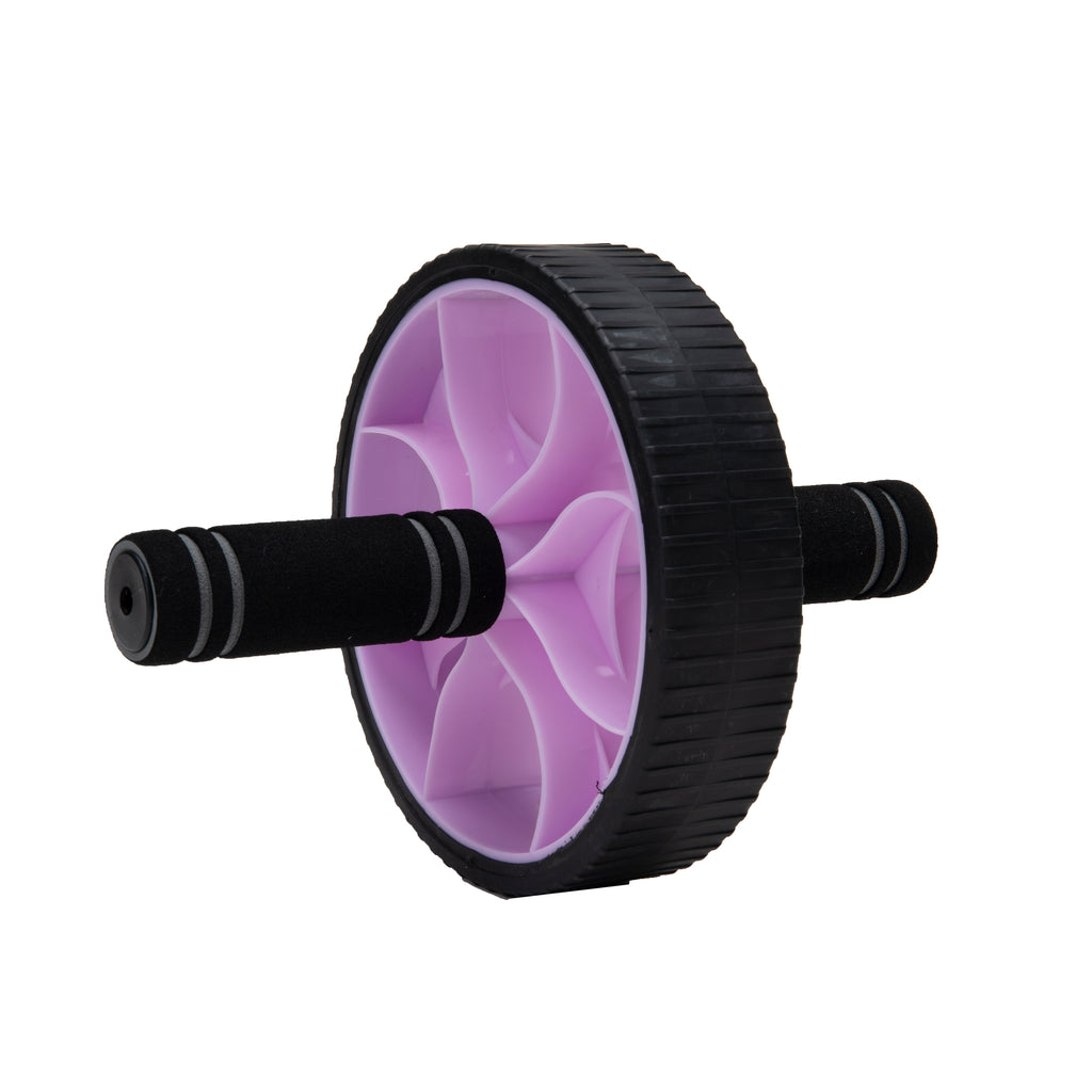 Mind Reader Ab Roller Wheel, Abdominal Roller Wheel with Foam Grips, Ab Workout Equipment, Purple