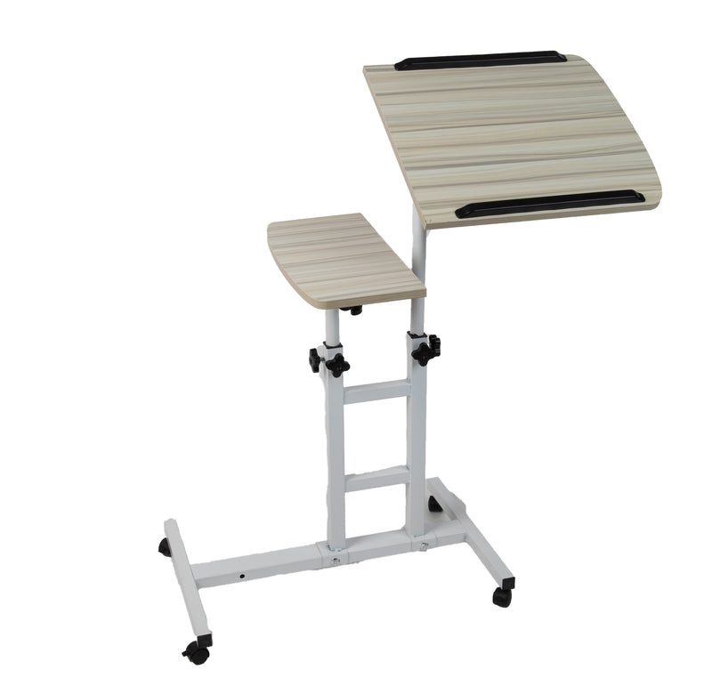 Mind Reader Rolling Standing Desk With Adjustable Desk, White