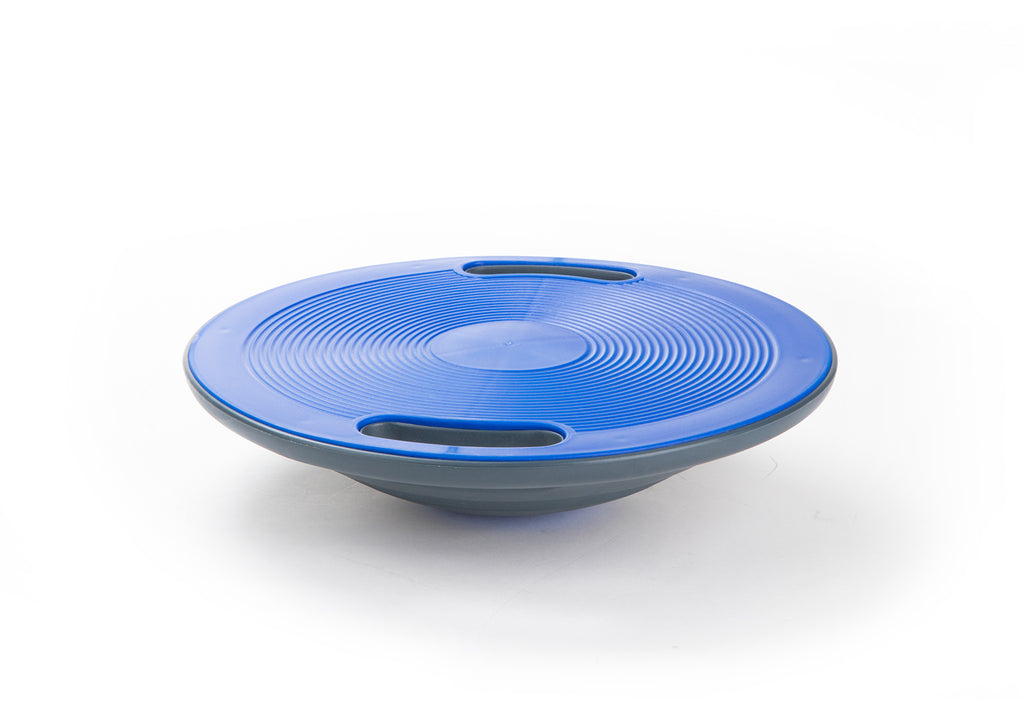 "Wobble Balance Board, Exercise Balance Stability Trainer Portable Balance Board with 2 Handles for Workout Core Trainer Physical Therapy At Home & Gym, 15.7"" Diameter Non-Skid Surface for Proper Balancing, Blue"