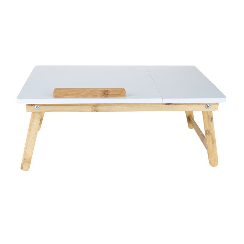 Mind Reader MIND READER Bamboo Lap Desk [Tilting Top With Side Drawer] Breakfast Tray for Bed, Computer Laptop Desk For Adults
