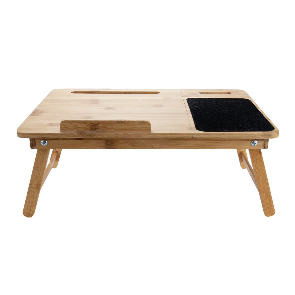 Bamboo Adjustable Lap Desk with Multi-Function Tilting Sections, Brown