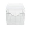 MIND READER Storage Basket and Organizer [METAL MESH] 3-Compartment Pull-out / Sliding Organizing Drawer, Under the Sink Kitchen and Bathroom Shelf Cabinet (WHITE)