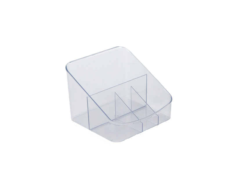 Multi-Purpose Mini Acrylic Coffee & Tea Condiment Storage Organizer, Great for Vanity, Bathroom, Office and Much More, Clear