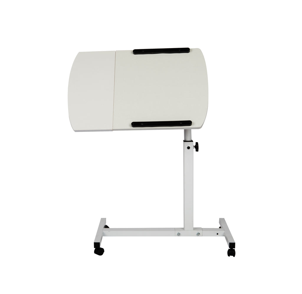 Mind Reader Adjustable Tilting Desk with Wheels, White