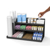 14 Compartment 3 Tier Large Breakroom Coffee Condiment Organizer