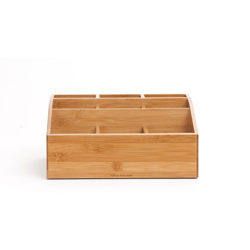 9-Compartment Bamboo Condiment Holder