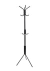 Mind Reader Standing Metal Coat Rack Hat Hanger 11 Hook for Jacket, Purse, Scarf Rack, Umbrella Tree Stand, Lightweight