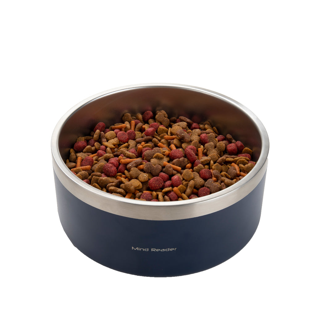 64 oz Stainless Steel Dog Bowl, Multiple Colors