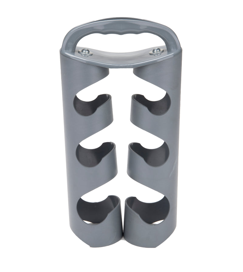 Mind Reader Heavy Duty Dumbbell Rack for Home Weights, Silver