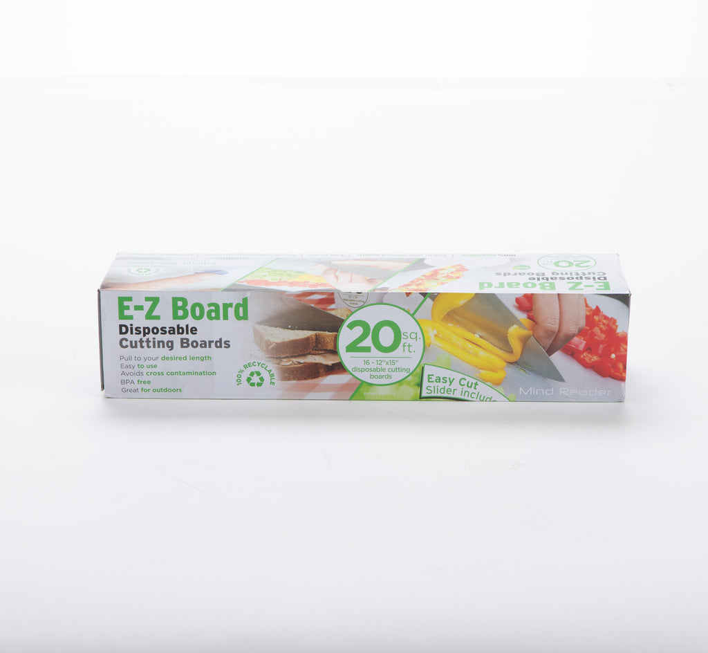 E-Z Board Disposable Plastic Cutting boards, 25 Square Feet, 2-Pack, Easy Clean-Up and Convenient Use, Ideal for Camping, Hunting, Boating, and For People With Food Allergies, Multiple Colors