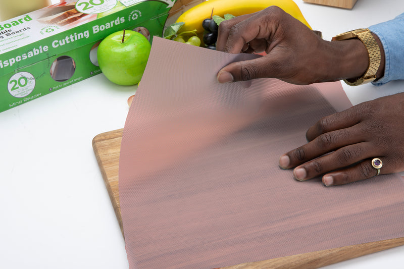 E-Z Board Disposable Plastic Cutting Boards, Multiple Colors