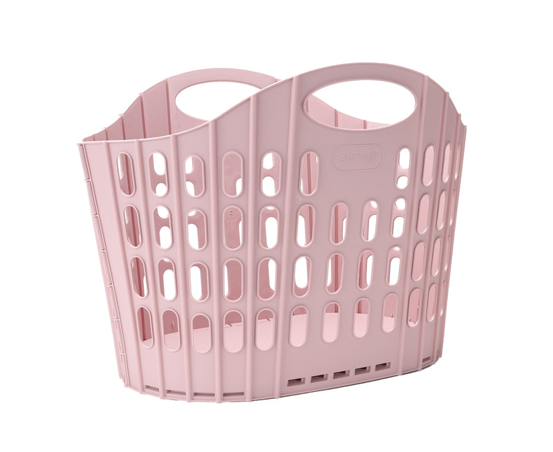 Mind Reader Collapsible Laundry Basket 38 Liter/10 Gallon, Ventilated Plastic Hamper, Compact Clothes Basket