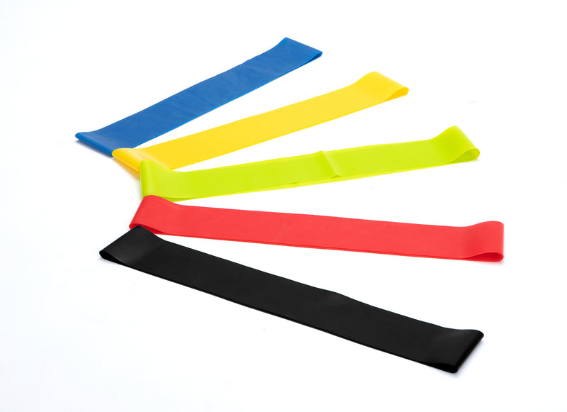Mind Reader Resistance Loop Resistance Exercise Bands For Home Fitness, Stretching, Physical Therapy, Stretch Training, Pilates, Weight Training, Set of 5 Resistance Levels, Multi-Color