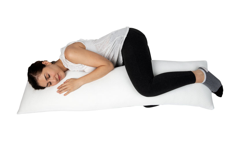 Mind Reader Memory Foam Body Pillow for Size Sleepers, Multiple Sizes