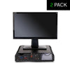 10 Compartment Monitor Stand and Desk Organizer - 2 Pack