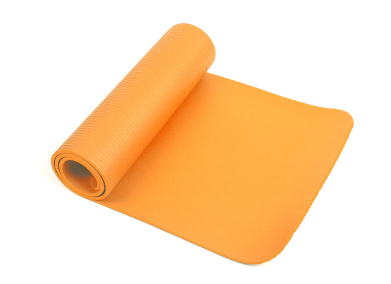 "Mind Reader All Purpose 1/2"" Extra Thick Yoga Mat Fitness & Exercise Mats with Carrying Strap, High Density Anti-Tear"