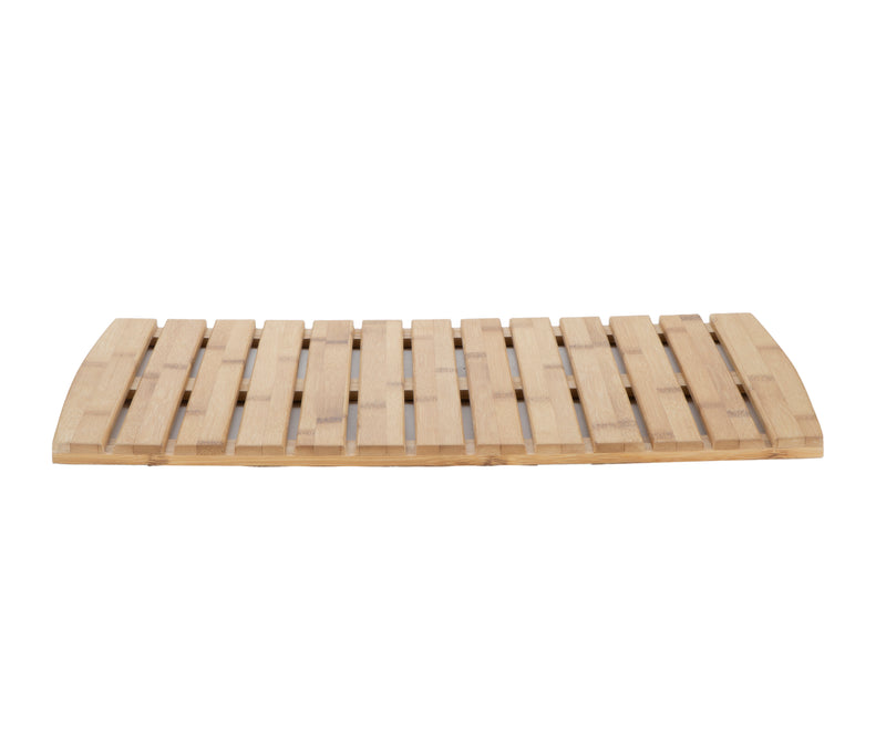 "Shower Bath Mat, Anti-Slip Mat, Environment Friendly Bamboo, 22"" L x 14"" W, Brown"