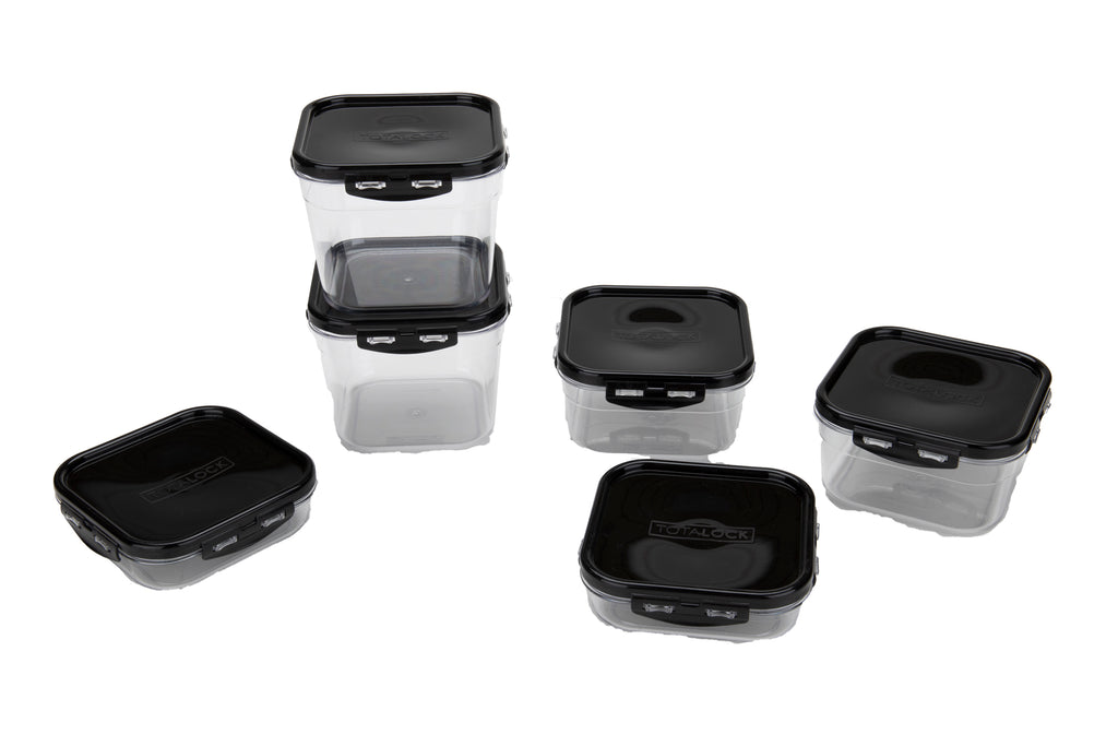 Mind Reader Polycarbonate Shatter-Proof Unbreakable Food Storage Meal Prep Containers with Airtight Locking Lids, Multiple Sizes/Sets