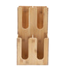 4-Section Bamboo Storage Organizer, Coffee Condiments Organizer, Bamboo Brown