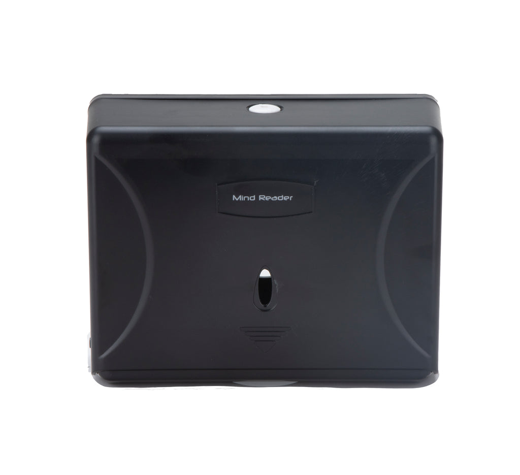 Mind Reader Multi-Fold Paper Towel Dispenser, Paper Towel Holder, 3.75 in. L x 10.5 in. W x 14 in. H, Black