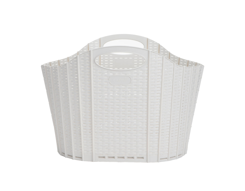 Mind Reader 38 Liter Laundry Basket, Laundry Basket, Storage Basket, Bathroom, Bedroom, Home, Ivory