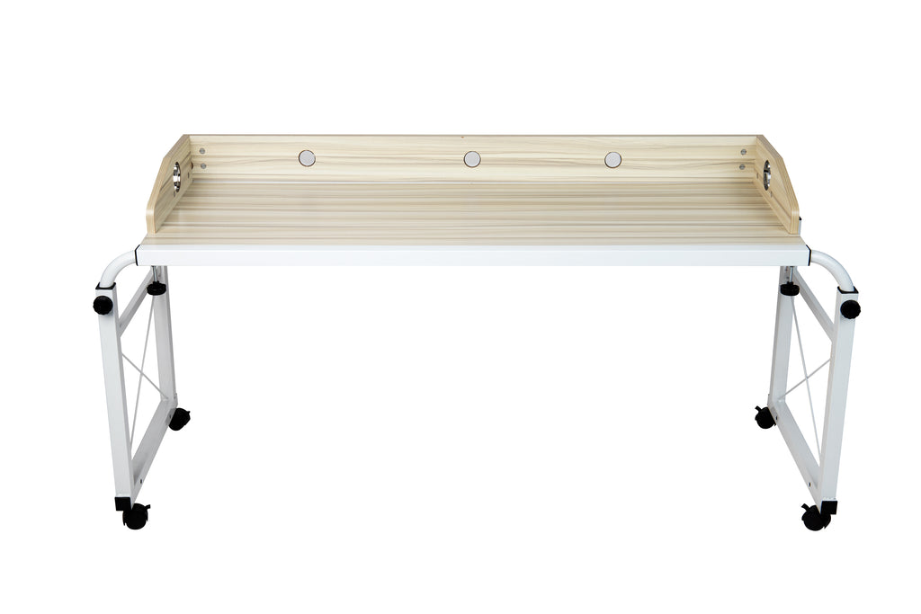 Rolling Adjustable Height Desk, White