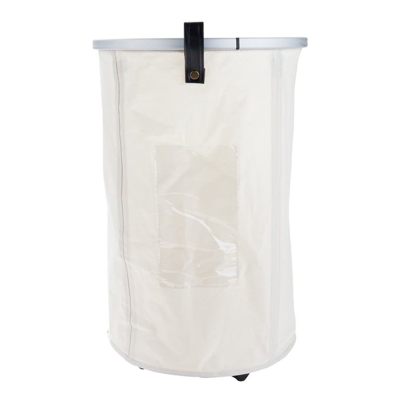 Collapsible Laundry Hamper with Wheels, Multiple Colors