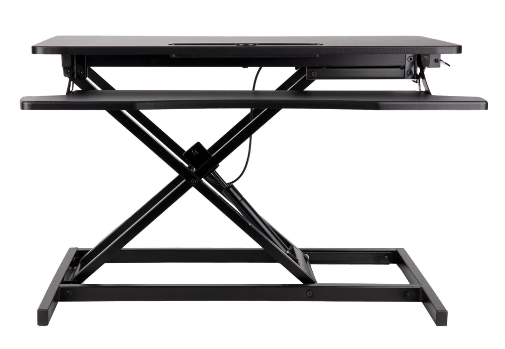 Convertible Standing Desk for Home or Office, Monitor Riser with Keyboard Support, Adjustable Height Levels, Black